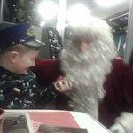 Son with santa.