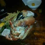 cracked crab dinner - HUGE portion!
