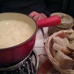 The 1/2 & 1/2 Cheese Fondue spread