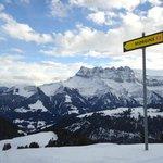 Ski-ing above Chatel