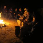 night at the nomads camp in the desert
