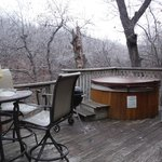 Deck View-Woods View Cabin