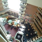 Hotel lobby from elevator