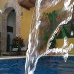 Vista desde la pequeña pero relajante piscina.