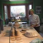 Mieke in her studio