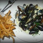 Moules Marinières, Pommes Frites from a different angle