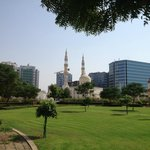 Port Saeed Plaza and the Sheikh Hamdan Mosque
