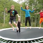 Kiddos at the trampoline, a favorite