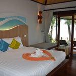 chambre du bungalow plage