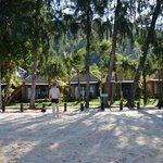 vue des bungalows plage
