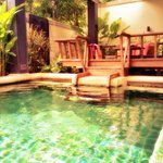 Beautiful private deluxe plunge pool room