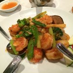 Spicy Jumbo Shrimps and vegetables