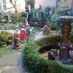 Il giardino del ristorante a Natale