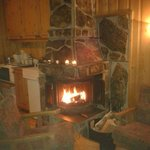 our log fire