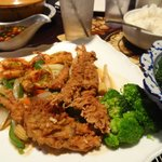Soft-shell Crab with Butterfly Shrimp