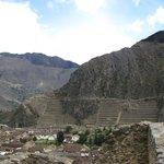 Vista para as ruínas de Ollantaytambo, Vale Sagrado