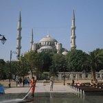 Mesquita Azul, vista do terraço do hotel