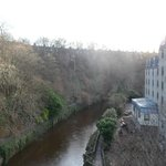 The River Leith runs alongside the Hotel!