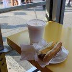 Hot dog com Piña Colada