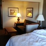 Well-appointed room with comfortable amenities.