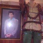 quirky decor at Farmville Macado's, Kramer from Seinfeld