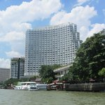 View from the Chao Phraya River of our hotel!