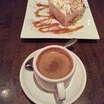 Ekmek dessert and Greek coffee