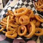 Boatload of fries & onion rings