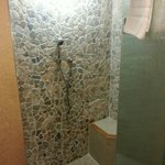 stand up rain shower/steam room!