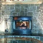 Nice fireplace in lobby area.  Nice way to end the night.