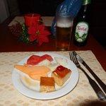 Dessert at the lounge