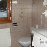 There are 2 toilets in the apartment - this is the one woth shower