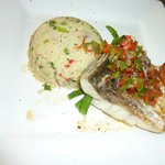 Barramundi fillet and cous cous