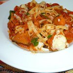 Pumpkin and pancetta pasta