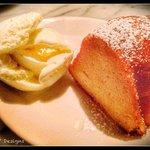 The Rum Cake for dessert.