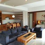 Living Room, Kitchen, Bedroom 1