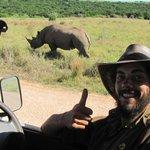 Addo Elephant Park rhino sighting