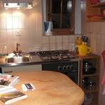 Kitchen equipped with cooking utensils etc