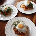 Chorizo Hash with Rocket, Egg and Sweet Chilli Sauce - Very Special Breakfast!