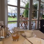 View from the dining room in ArtVilla Hotel Garni Koegel to the Lake of Constance (Bodensee)