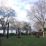 View from the ArtVilla hotel gardens across the Lake of Constance (Bodensee)