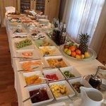 The incredible Hotel Garni Koegel Artvilla breakfast each morning :)
