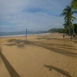 Beach and volleyball net