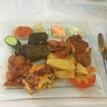 Selection of Greek dishes/foods