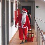 Santa Claus door to door