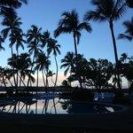 Sunrise over the Lagoon Pool