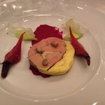 Foie Gras and beets! Delicious!
