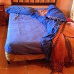 Bed with big dip