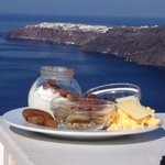 Breakfast on terrace of restaurant - amazing views