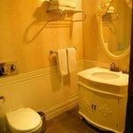 Bathroom in green room